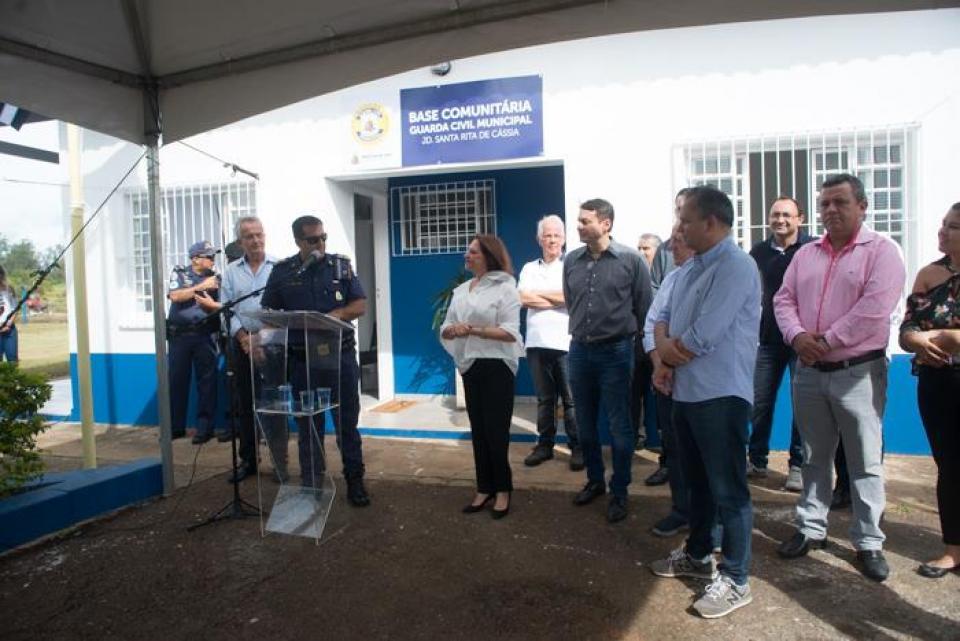 PREFEITURA REABRE BASE COMUNITÁRIA  DA GCM NO JARDIM SANTA RITA DE CÁSSIA