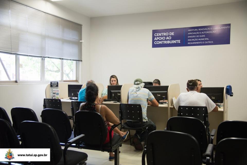 PREFEITURA DE TATUÍ INAUGURA CENTRO  DE APOIO AO CONTRIBUINTE