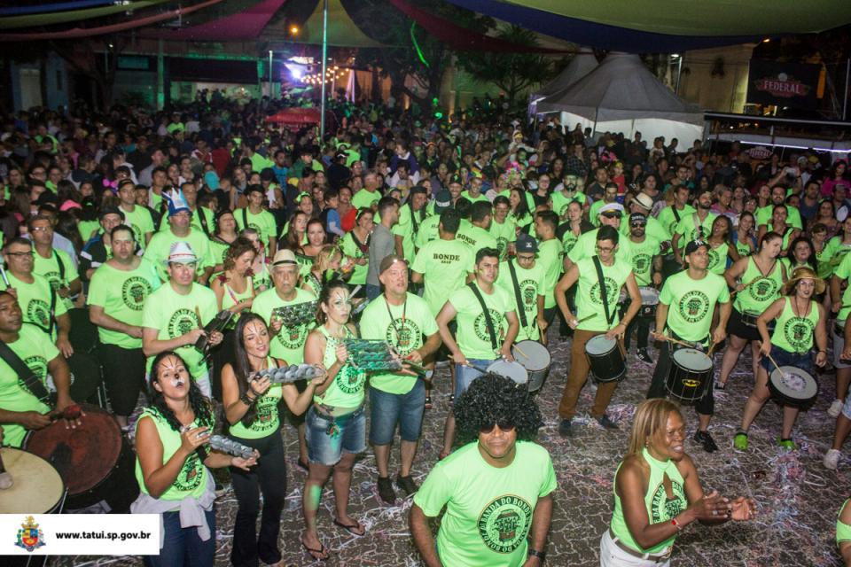 MAIS DE 35 MIL PESSOAS PARTICIPAM DO TATUÍ FOLIA - CARNAVAL MUSICAL 2018