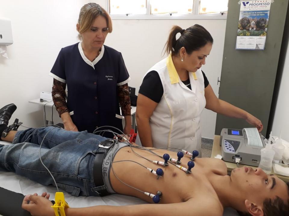 ESF DO BAIRRO SANTA LUZIA ATENDEU 30 PESSOAS NO MUTIRÃO DE ELETROCARDIOGRAMA