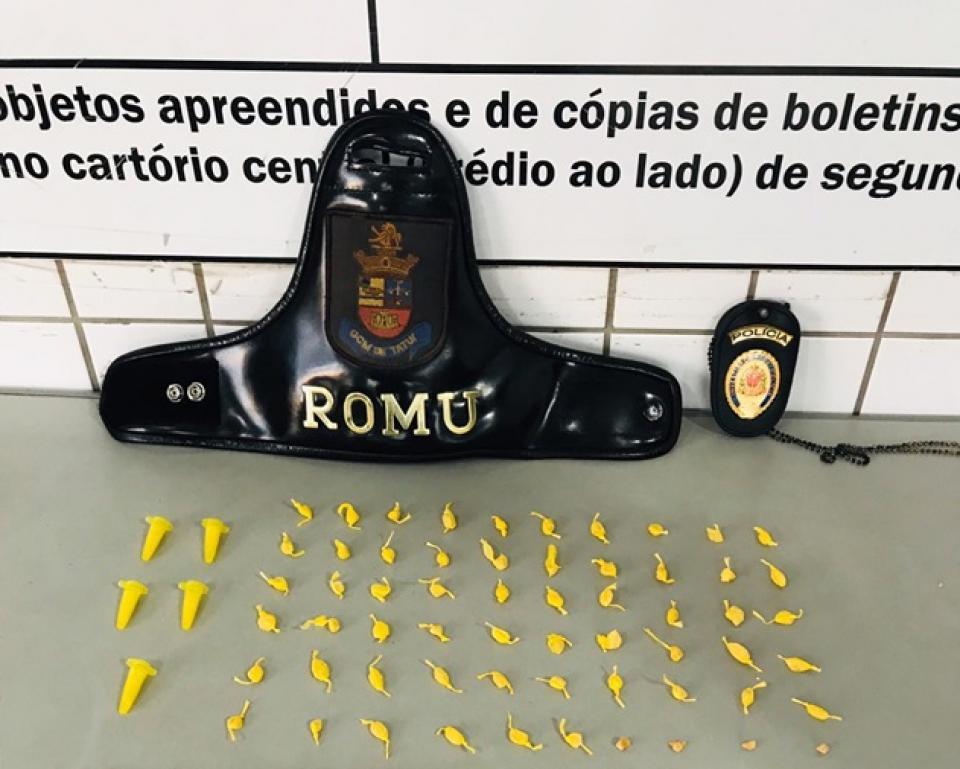 GCM DE TATUÍ E POLÍCIA CIVIL PRENDEM EM FLAGRANTE JOVEM DE 20 ANOS DE IDADE POR TRÁFICO DE DROGAS E RESISTÊNCIA À PRISÃO