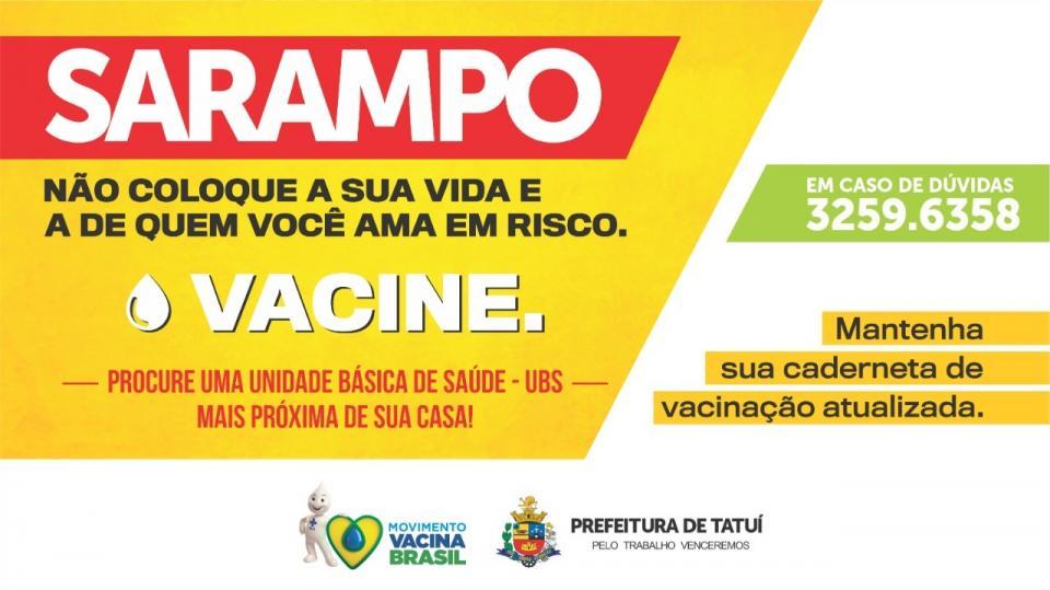 SECRETARIA DE SAÚDE CONFIRMA MAIS   UM CASO DE SARAMPO E ALERTA PARA   A IMPORTÂNCIA DA VACINAÇÃO