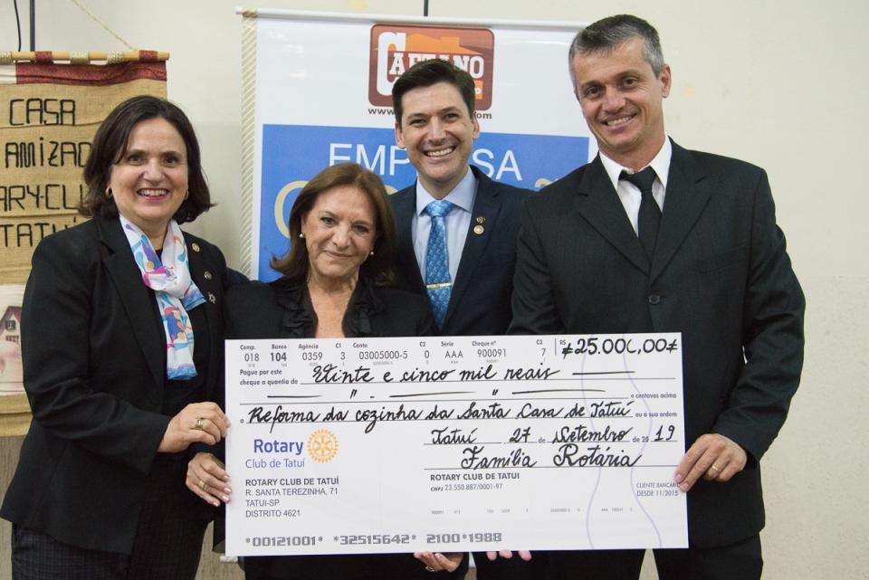 ROTARY CLUB DE TATUÍ FAZ DOAÇÃO PARA REFORMA DA COZINHA DA SANTA CASA